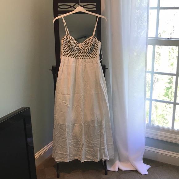 Sunny Girl Dresses Linen Maxi Dress W Gold Detail Poshmark